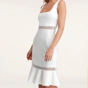 Lulus Martini Mama White Crochet Midi Dress